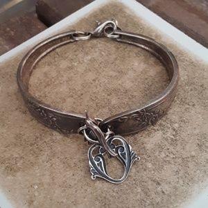 Vintage sterling spoon bracelet